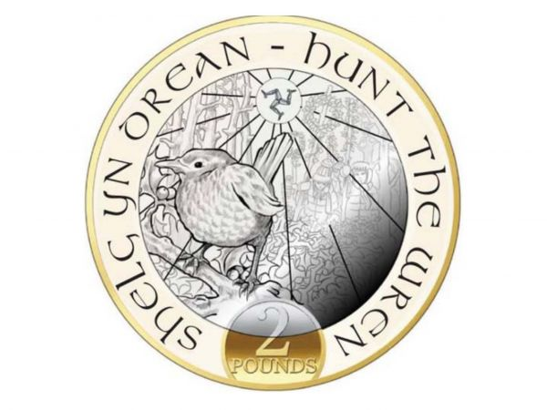 Hunt the Wren £2 Christmas Coin 2018