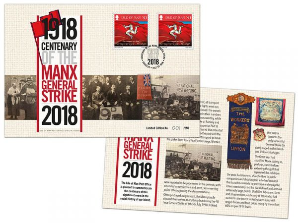 The Manx General Strike 1918 Special Cover