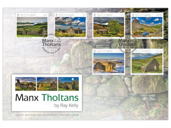 Manx Tholtans by Ray Kelly First Day Cover