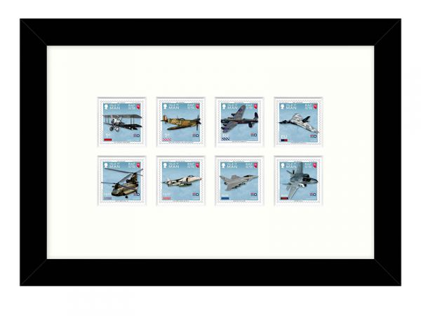 100 Years of the Royal Air Force Framed Stamp Set Mint