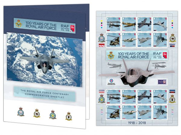 100 Years of the Royal Air Force Commemorative Sheetlet