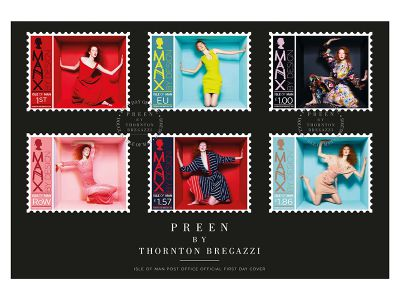 FIRST CLASS FASHION BY PREEN DRESSES ISLE OF MAN STAMPS