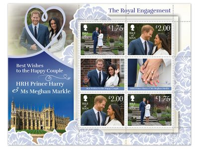 THE ROYAL ENGAGEMENT CELEBRATED IN STAMPS