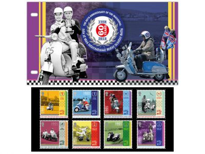 ISLE OF MAN POST OFFICE CELEBRATES 60TH ANNIVERSARY OF INTERNATIONAL SCOOTERING EVENT