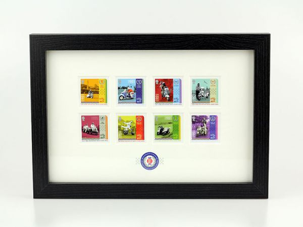 Isle of Man International Scooter Rally Framed Stamp Set