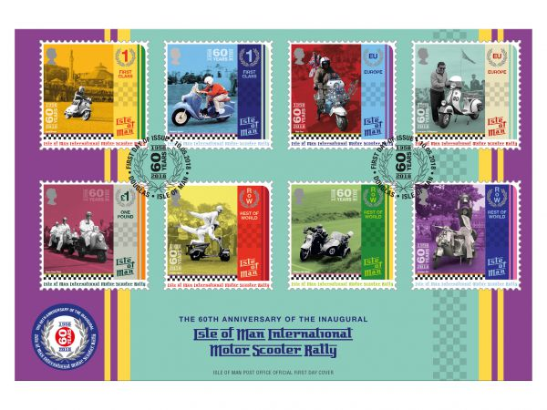 Isle of Man International Scooter Rally First Day Cover