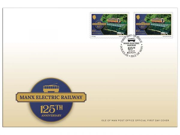 Manx Electric Railway 125th Anniversary Europa First Day Cover