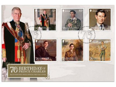 The Isle of Man Post Office honors HRH Prince Charles with commemorative stamps