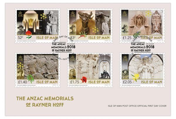 The ANZAC Memorials of Rayner Hoff First Day Cover