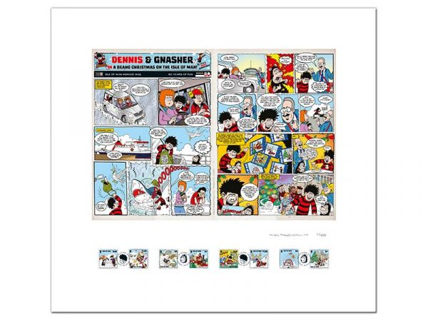 A Beano Christmas Limited Edition Signed Print