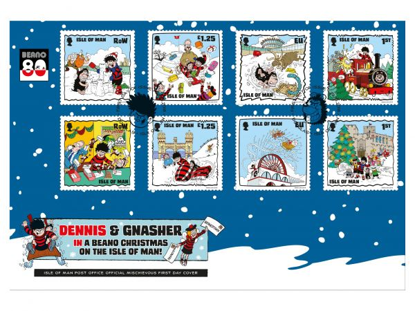 A Beano Christmas First Day Cover