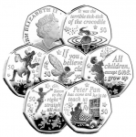 ISLE OF MAN STAMPS & COINS PRESENTS THE WORLD'S FIRST PETER PAN CIRCULATING COIN COLLECTION