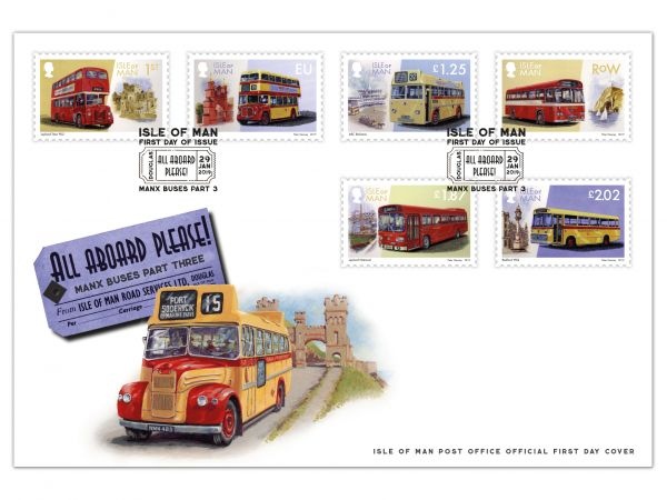All Aboard Please! Manx Buses Part Three First Day Cover