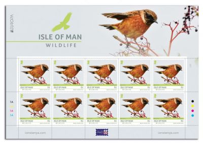 ISLE OF MAN POST OFFICE WILDLIFE STAMP 'STONECHAT' SINGS