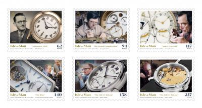 Master Watchmakers of the Isle of Man Commemorated on a Set of Six Stamps