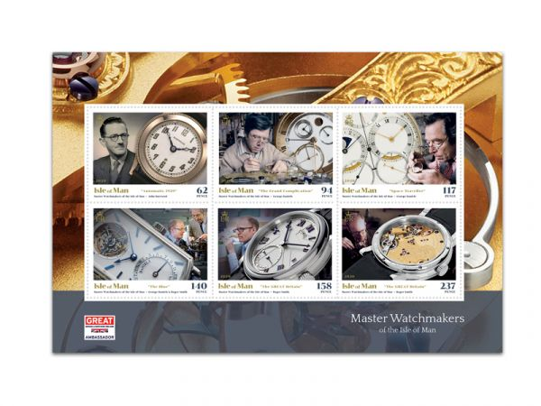 Master Watchmakers of the Isle of Man Booklet Pane