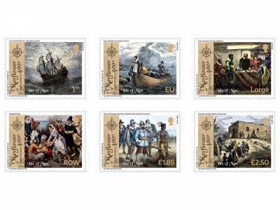 ISLE OF MAN POST OFFICE INTRODUCES STAMP COLLECTION TO MARK  400 YEARS OF THE MAYFLOWER