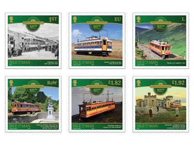 Snaefell Mountain Railway Celebrated with Six Stamps on 125th Anniversary