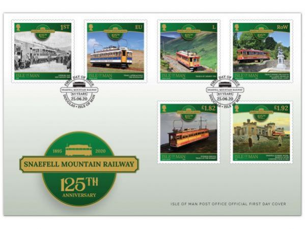 Snaefell Mountain Railway - 125th Anniversary First Day Cover
