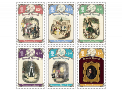 Charles Dickens Celebrated With a Commemorative Stamp Set by the Isle of Man Post Office