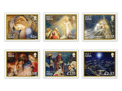Isle of Man Post Office Issues The Story of the Nativity on Christmas Stamps 2020