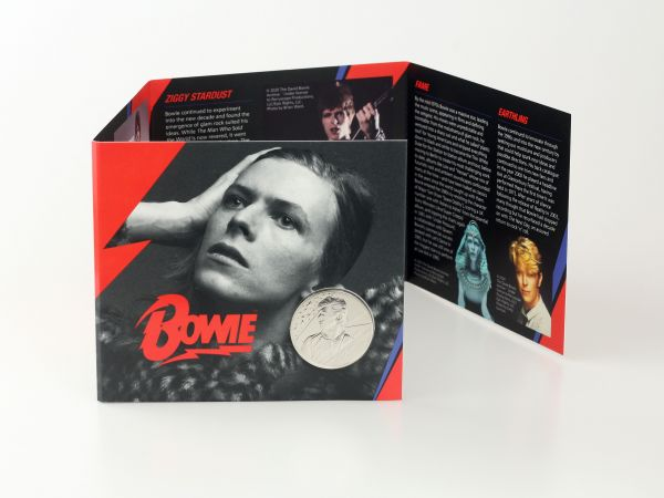David Bowie Brilliant Uncirculated £5 Coin