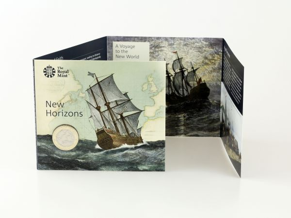 The 400th Anniversary of the Voyage of the Mayflower BU £2 Coin