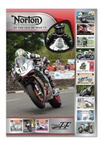 Isle of Man Post Office celebrates Norton at the TT races