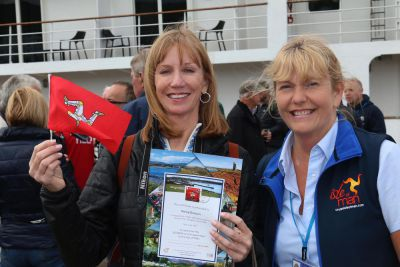 Isle of Man Post Office supports Cruise Isle of Man with 50,000th passenger celebrations