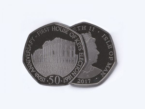 House of Keys 50p in Wallet