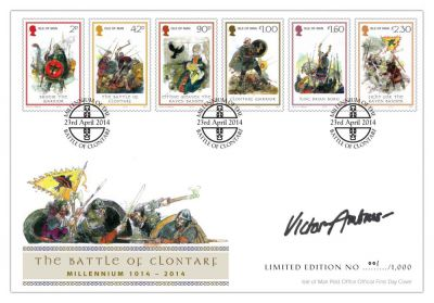 Limited edition postmarked envelope to mark the millennium anniversary of the Battle of Clontarf