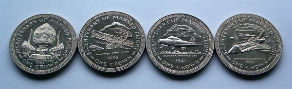 1983 Isle of Man Bicentenary of Manned Flight Crown Collection