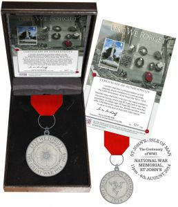 Medallion Tribute to Manx Veterans of World War 1