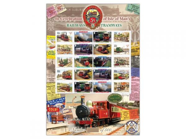 Isle of Man Railways Limited Edition Stamp Sheet