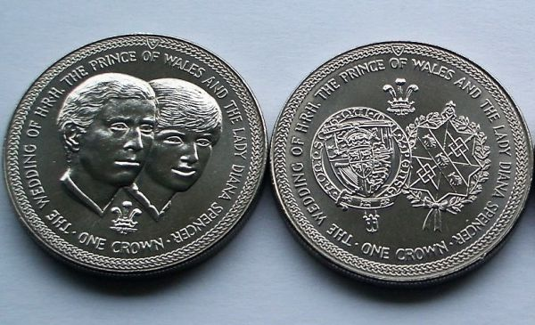 1981 The Wedding of Prince Charles and Lady Diana Spencer Crown Set