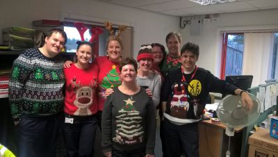 Isle of Man Post Office goes knitty for Christmas Jumper Day