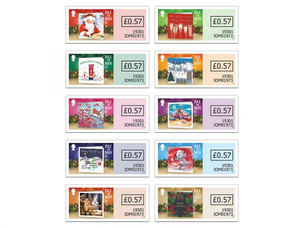 Christmas Cards Self Adhesive Set
