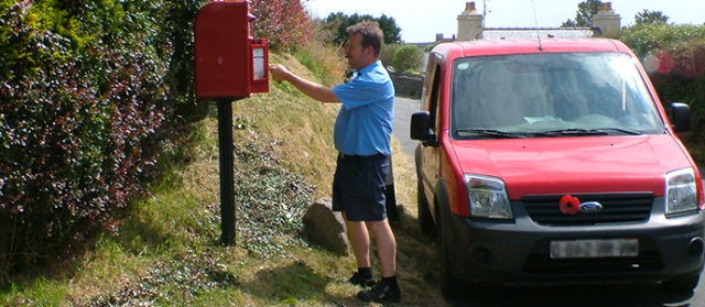 authentic detailed pictures arriving Collection & Deliveries - Isle of Man Post Office