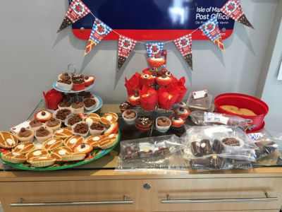 Isle of Man Post Office staff bake sale raises £361 for Red Nose Day 2017