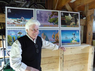 Isle of Man Post Office issues stamps with exclusive image to celebrate the work of artist and designer Roger Dean