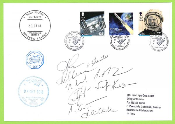 International Space Station Signed Cover