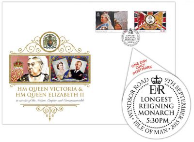 Isle of Man Post Office announces Longest-Reigning Monarch with special postmark – 5.30pm Windsor Road Post Office
