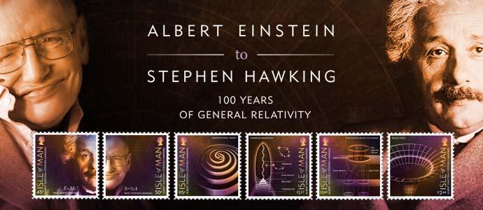 马恩岛7月1日发行爱因斯坦到霍金-100年广义相对论邮票