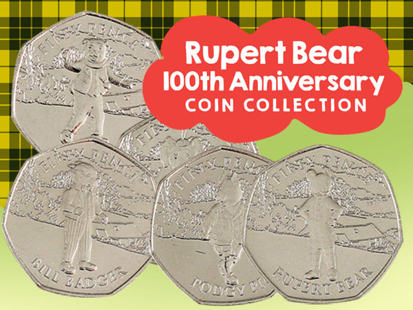 Rupert Bear 100th Anniversary 50p Collection