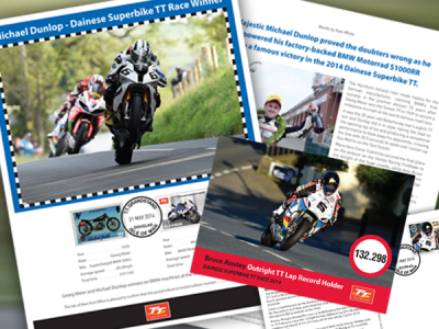 Isle of Man Post Office celebrates historic Dainese Superbike race at the 2014 TT