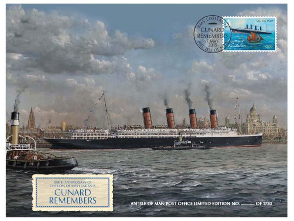 Cunard 175th Anniversary – Lusitania Remembered Special Cover