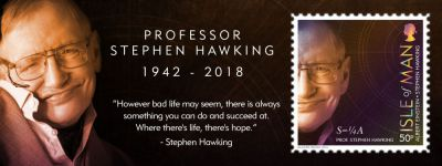 ISLE OF MAN POST OFFICE PAYS TRIBUTE TO  PROFESSOR STEPHEN HAWKING