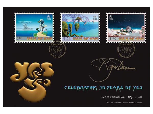 YES 50th Anniversary Roger Dean Signed Commemorative Cover