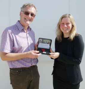 Commemorative medallion donated to the Manx Aviation & Military Museum for forthcoming WWI exhibition