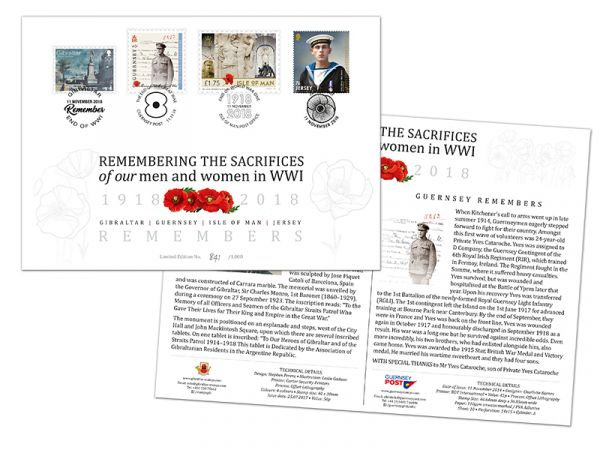 Joint Limited Edition WW1 Commemorative Envelope